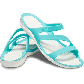 Crocs Swiftwater Sandalen Dames, pool/white